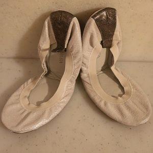 Yosi Samra White Ballet Flat